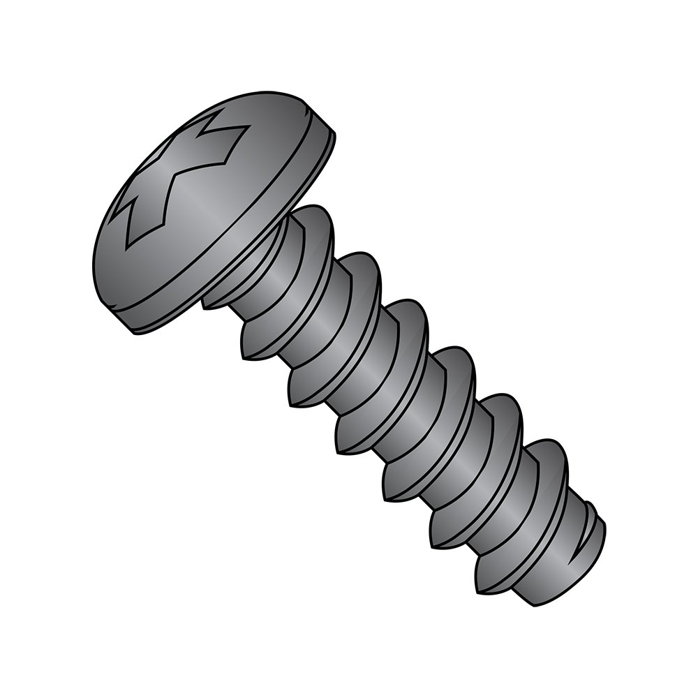 Steel Sheet Metal Screw Type B Black Oxide Finish #6-20 Thread Size Pan Head Pack of 100 1//4 Length Phillips Drive 1//4 Length Pack of 100 Small Parts 0604BPPB