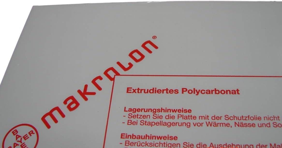 1,0/mm policarbonato Makrolon Platte/ /Pizarra Formato 2050/x 1250/mm transparente//transparente