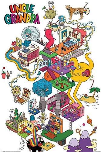Amazon Com Studio B Poster Uncle Grandpa Warped Mind Wall Art P5066 Toys Games