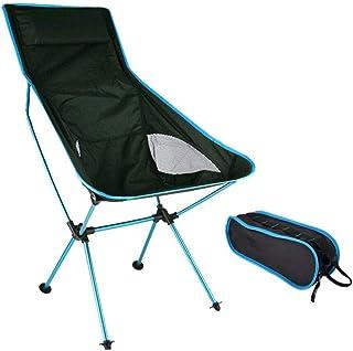 DUBAOBAO Chaise de Camping Pliante Portable pour Femme et Homme Super légère Chaise de pêche Randonnée Camping Jardin Plage Picnic Festival 150 kg