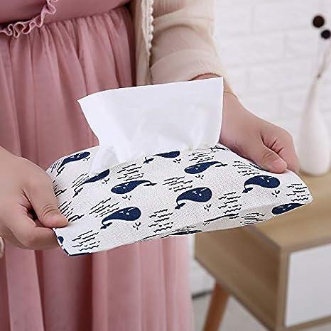 markcur algod/ón Auto Tissue Box Funda Toalla Box Funda dispensador Caja de pa/ñuelos gris