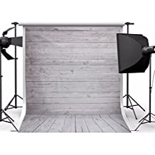 Showyou 5x7ft Grey Wood Wall & Floor Silk Fabric Photography Backdrop Customized Studio Background Studio Props