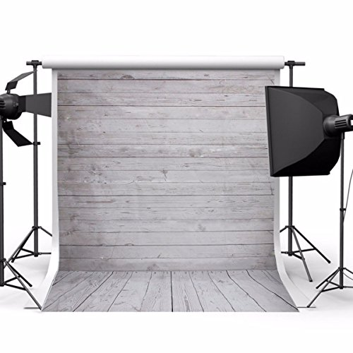 Used, Showyou 5x7ft Grey Wood Wall & Floor Silk Fabric Photography for sale  Delivered anywhere in USA