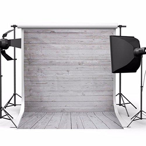 Showyou 5x7ft Grey Wood Wall & Floor Silk Fabric Photography Backdrop Customized Studio Background Studio - You Wear Wood