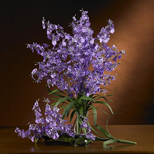 Nearly Natural Home Indoor Decorative Tabletop Fancy Dancing Lady Silk Orchid Flower 6 Stems (Dancing Lady Stems)