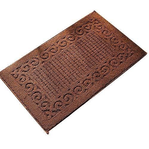 Ozzptuu Rectangle Non-Slip Kitchen Bedroom Toilet Doormat Floor Rug Mat Keeps Your Floors Clean Decorative Design (Small, Coffee)