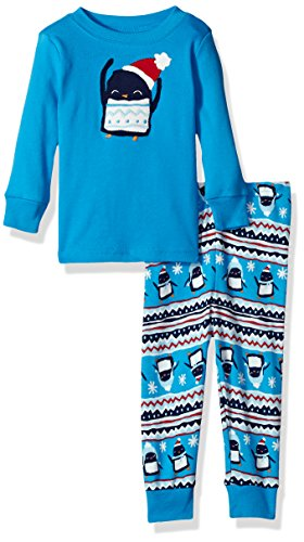 Gymboree Toddler Boys' 2 Piece Cotton Tight-Fit Pajamas, Blue Penguin, 18-24 Mo (Baby Clothes Gymboree Boy)