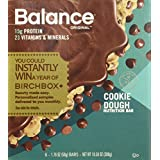 Balance Bar Protein Bars, Healthy Snacks to Support Energy, Cookie Dough, 1.76 oz, Pack of Three 6-Count Boxes