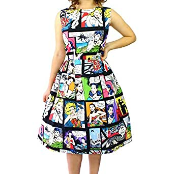 Women's Hemet Comic Pleated Dress 3XL