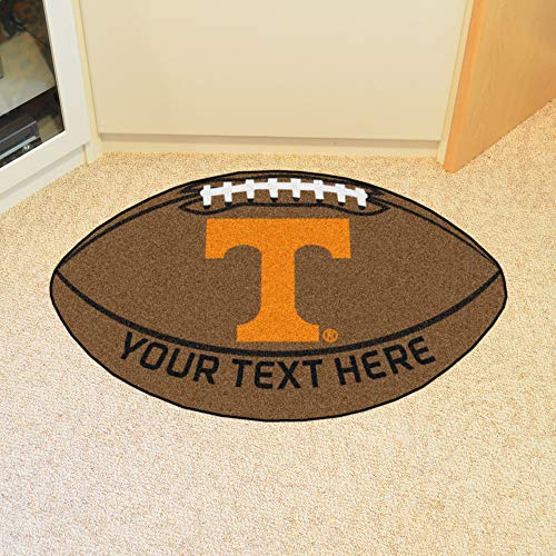 Custom Home Rugs Personalized University of Tennessee Football Mat
