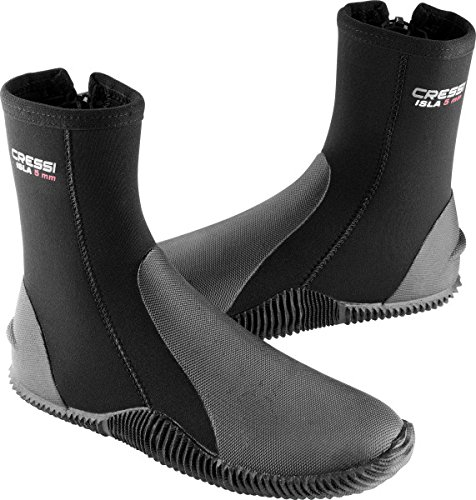 Cressi Tall Neoprene Boots for Snorkeling, Scuba Diving, Canyoning, Available in Neoprene 5 & 7 mm | Isla: Designed in Italy from Cressi