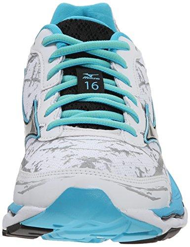 Running Mizuno Creation Mizuno Womens White Wave 16 Shoe Silver Womens IqrqwYv