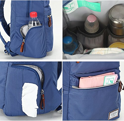 Las mujeres embarazadas de múltiples funciones de gran capacidad del bolso de la momia del bolso salen paquete de la madre del bebé de la madre del paquete de la manera ( Color : Negro ) Azul oscuro