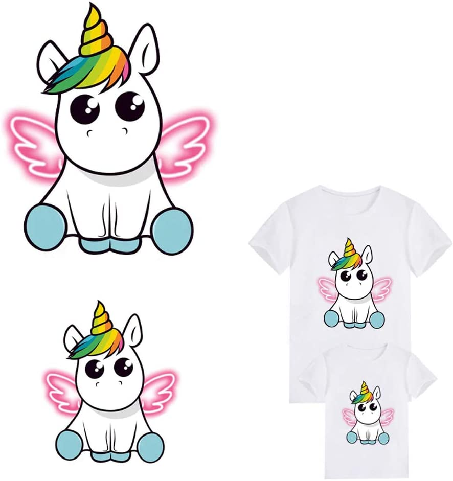 Thermal Sticker On Clothes Cute Animal Unicorn Patches DIY Iron On Heat Transfer