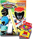 Saban's Power Rangers Dino Charge Jumbo Coloring and Activity Book with Cra-Z-Art Crayons