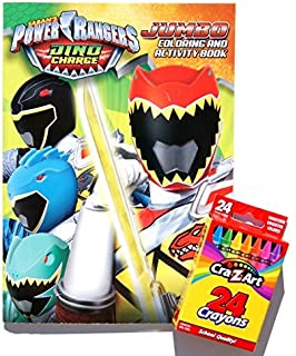 Sabans Power Rangers Dino Charge Jumbo Coloring And Activity Book With A Box Of Crayons