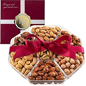 Best Epic Trends 51OxdHUa8zL._SS300_ Holiday Nuts Gift Basket - Fresh Sweet & Salty Dry Roasted Gourmet Nuts Gift Basket - Food Gift Basket for Christmas…