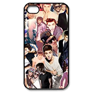 Popular Singer Justin Bieber Pattern Productive Back Phone Case For Iphone 4 4S case cover -Style-9
