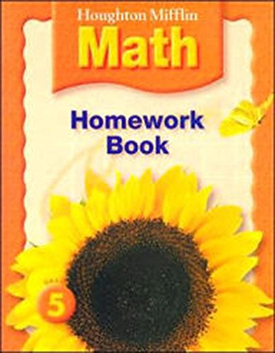 Math Worksheets houghton mifflin math worksheets grade 5 : Houghton Mifflin Mathematics: Homework Book Consumable, Level 5 ...