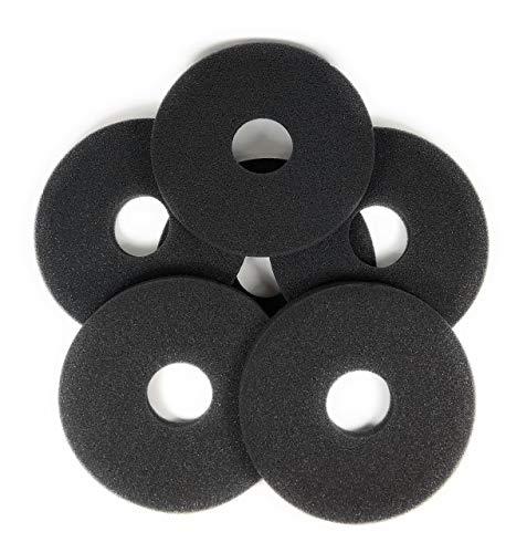Margarita Salt Glass Bar Rimmer Replacement Sponges Set of 6, Black by SUMMIT Salt Rimmer Replacement Sponges (Image #8)