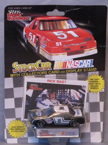 Racing Champions #1 Rick Mast 1/64 scale diecast stock car replica with collectible card
