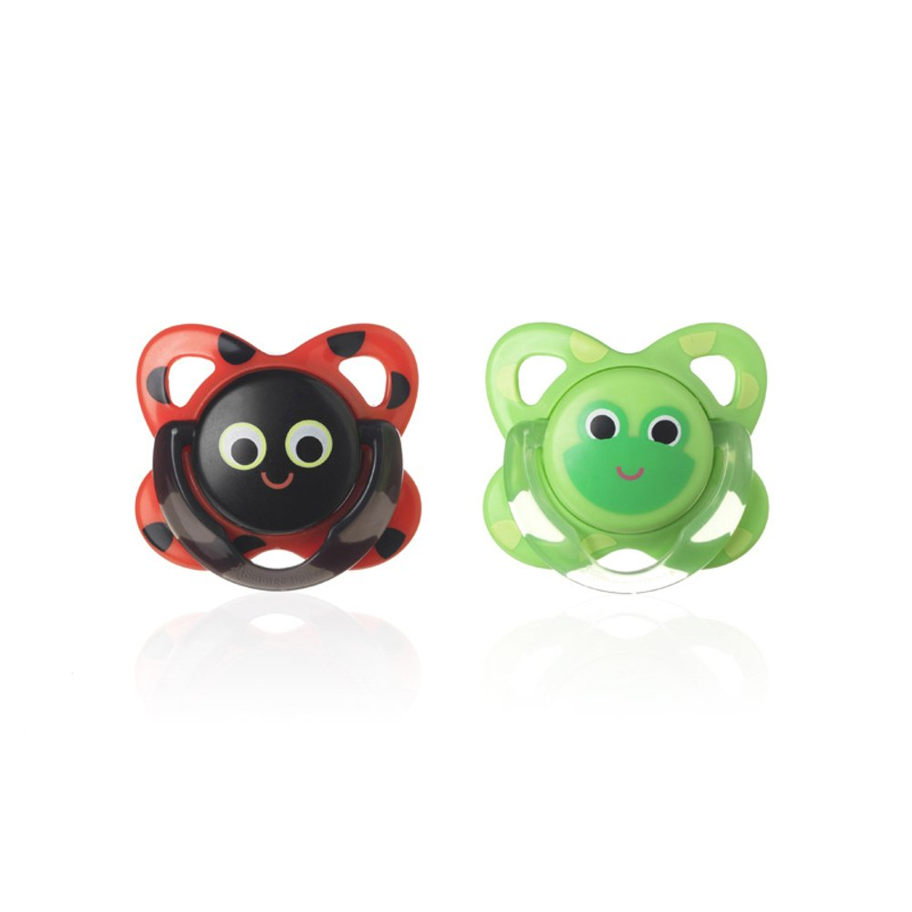 Baby Soother Dummy Pacifier Nipple Tommee Tippee 6-18m 2 Pack Boy Girl (Decorated Cherry # 2) Gorbanshop