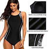 CharmLeaks Womens Racerback One Piece Swimsuit