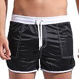 DESMIIT Men's Mesh Pocket Short Gray US Small Asia L Waist:30'-32'