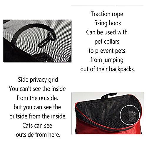 Mochila para Mascotas Pecho Backpack Mochila de Respirables Perros Teddy Gatos y Fuera Transporte Bolsa en para Brown el gqwYEn8w