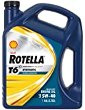 Shell Rotella 550019921-3PK T6 5W-40 Full Synthetic Heavy Duty Diesel Engine Oil (CJ-4) - 1 Gallon Jug Pack of 3