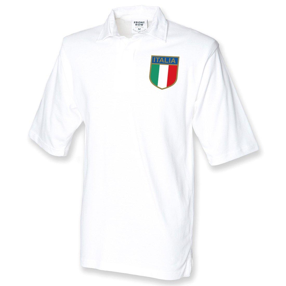 Hombres del Vintage Bordado Escudo del Italiano Italia Italia ...