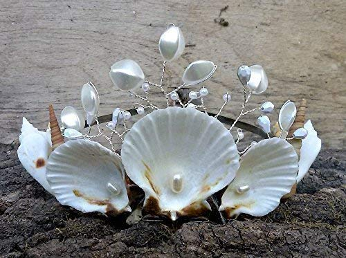 Natural Seashells Crown, Mermaid hair accessories