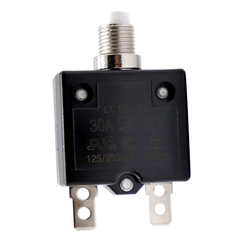 20 A D DOLITY Disjoncteur R/éarmable de Voiture 12V 24V