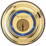 WEISER Kevo - Bluetooth Enabled Deadbolt Lock for iPhone 4S, 5, 5C, 5S, 6 and 6 Plus (Polished Brass)