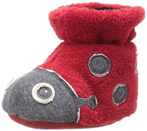 ACORN Easy Critter Kids Bootie Slipper,Ladybug,Toddler XX-Large (8-9 Shoe Size) ()
