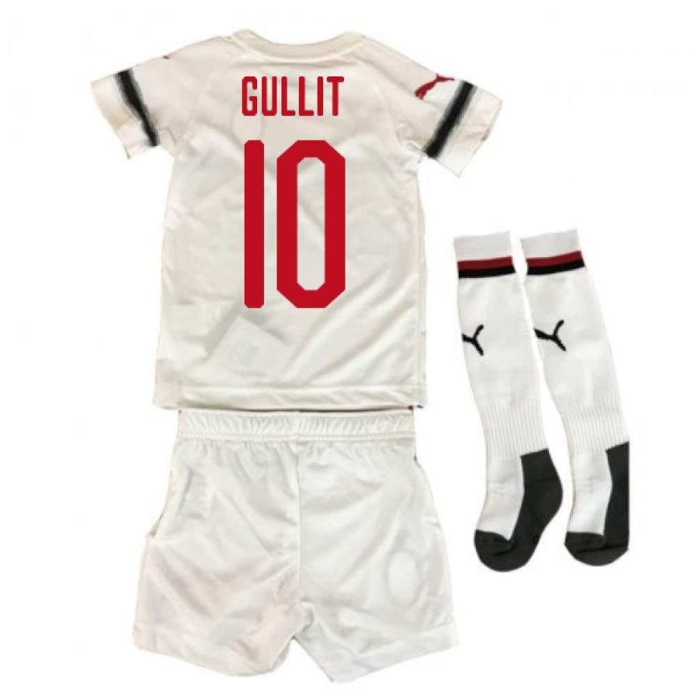 UKSoccershop 2018-2019 AC Milan Puma Away Mini Kit (Ruud Gullit 10)