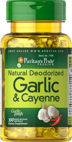 Fierté naturelle désodorisée Ail et Cayenne Puritan 300 mg / 150 mg-100 gélules
