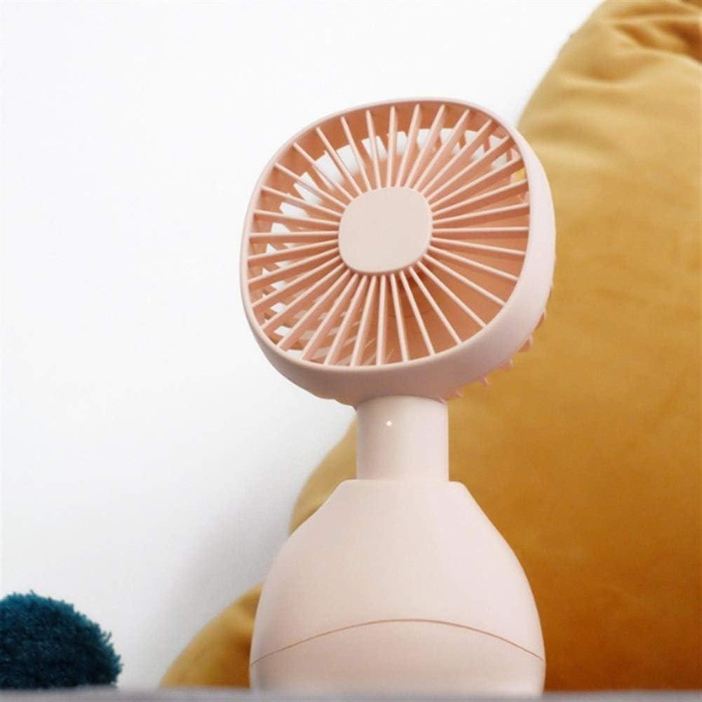 Fan Portable Fan Cartoon,Mini Desk Table Handheld Fan,USB Rechargeable Ventilator Device Cooling Fan Soothing with Third Gear Wind Mini Portable Cooling Fan Color : Blue