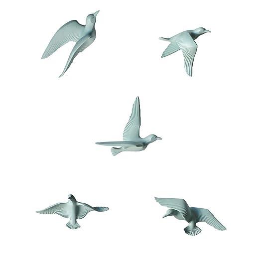 s - 5pcs Nautical 3d Resin Seagull Birds Sculpture Crafts ...