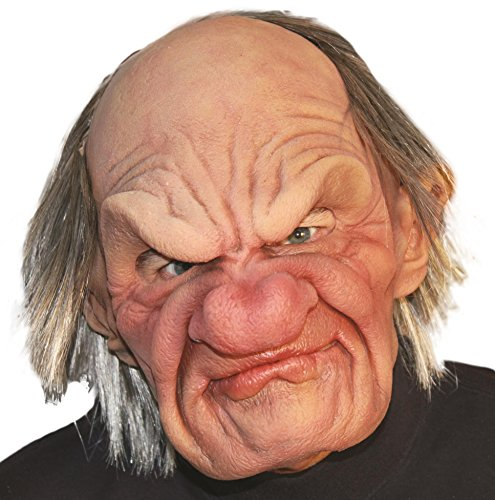 Zagone Grumpy Mask, Old Angry Male, (Supersoft Old Man Mask)