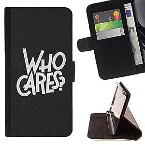 Momo Phone Case / Flip Funda de Cuero Case Cover - A quién le importa lema inspirado de la cita Let Go - Sony Xperia M4 Aqua