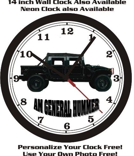 AM GENERAL HUMMER WALL CLOCK-FREE USA (Am General Jeep)
