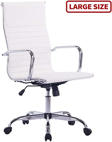 Sidanli White Desk Chair, High Back Executive Office Chair
