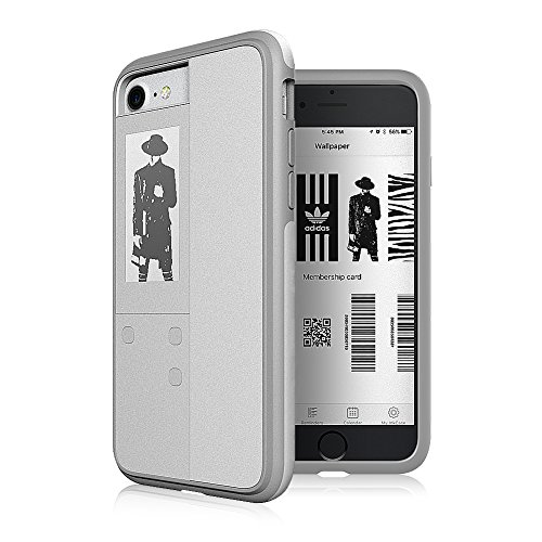 Oaxis Cell Phone Case for iPhone 7/8 - White Pattern (Oaxis Ereader)