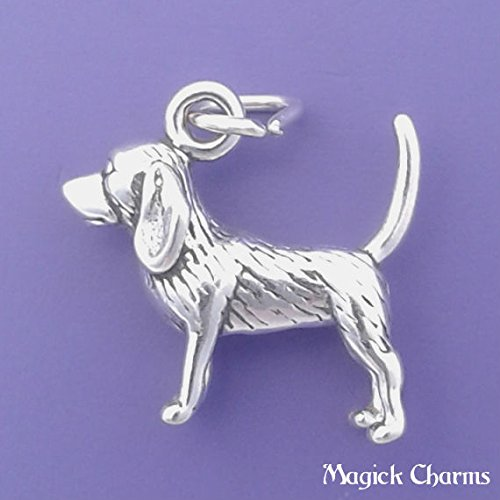 (Sterling Silver 3-D BEAGLE Dog Charm Pendant - lp3200 Jewelry Making Supply Pendant Bracelet DIY Crafting by Wholesale)