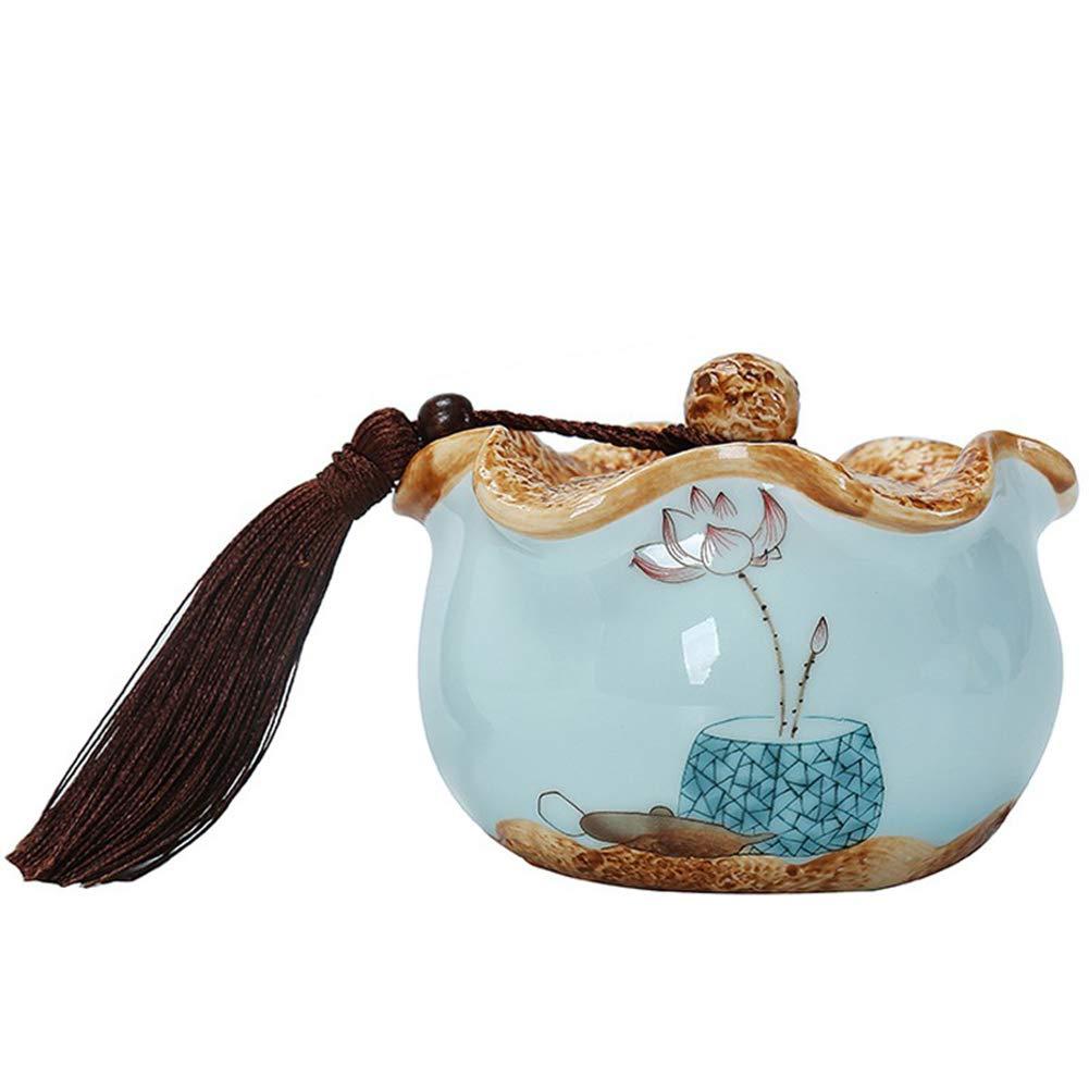 2 Ge kiln Celadon Ceramic pet Cremation Cylinder Dog cat, Sealed MoistureProof Handmade Adult Funeral Supplies pet Coffin Ornaments