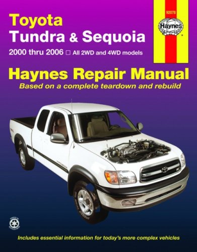 Download Toyota Tundra & Sequoia: 2000 thru 2006 (Haynes Repair Manual) PDF