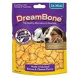 Dreambone Bacon & Cheese Mini Bone Dog Chews, Rawhide Free Dog Treats, 24-Count (Dbbac-02874) For Sale