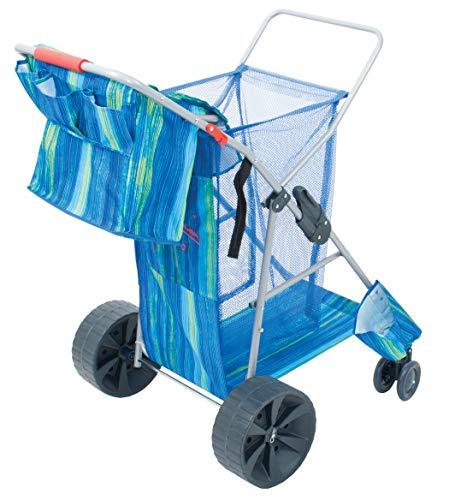 RIO Brands Deluxe Wonder Wheeler Wide, Blue Print (Renewed)