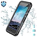 SPIDERCASE iPhone 7 Plus/8 Plus Waterproof Case, Built-in Screen Protector Cover 360 Degree Protection Rugged Clear…